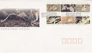 AUSTRALIA 2 JANUARY 1992 THREATENED SPECIES OFFICIAL FIRST DAY COVER SHSa