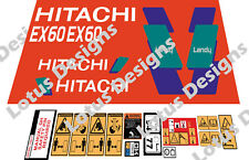 Hitachi EX60 -3 Digger Stickers / Decals