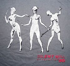 M Medium Silent Hill Revelation 3D Gray T Shirt Evil Sexy Nurse Nurses