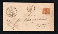 Busta Regno Storia Postale Francobollo C.10 DE LA RUE TIRATURA LONDRA Piego