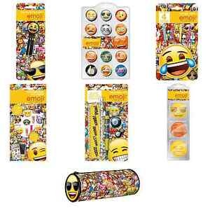 Emoji Branded Stationery Packs Emoticon Phone Icons Smiley Face Characters Kids