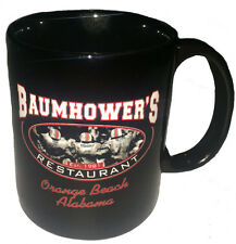 Baumhower's Coffee Cup, black, ceramic, new
