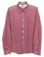 Superdry Men's Shirt Size M Long Sleeve London Button Down Red and Blue Check