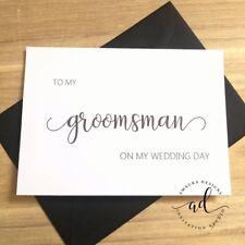 To My Groomsman On My Wedding Day Card & Env Wedding Thank You Card Invitation