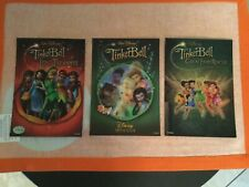 Set Of (3) Disney'S Tinkerbell 3-D Lenticular Collector Cards