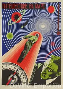 Journey to Mars Vintage Movie Poster Fine Art Lithograph Hand Pulled S2 Art