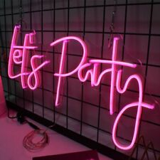 Custom Led Neon Light Let Party Signs Room Birthday Parties Wedding Decorations