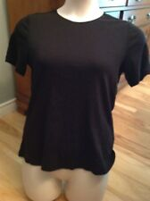 Christopher & Banks LAYER-YOUR-LOOK Black 100% Cotton Basic Women's T Shirt M