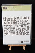 Retired Stampin' Up! A WORLD OF THANKS, New, clear mount