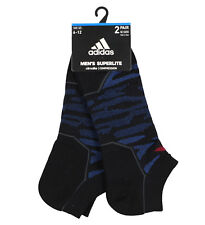 ADIDAS Superlite Speed Mesh 2-Pack No Show Socks Adult One Size (6-12) Blue Low
