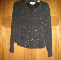 Womens RONNI NICOLE By OUIDA evening Sparkly long sleeve jacket blouse Sz16W