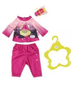 Orig. Zapf >>> Baby Born Play & Fun Schlafanzug und Nachtlicht <<< pink 43 cm
