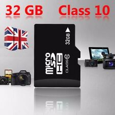 UK 32GB Class 10 Speed Micro SD Card + Free Adapter TF SDHC Flash Storage Memory