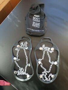 XTM   Anti-Slip Shoe/ Boot Chains Crampons Hiking Shoe Size L 9.5 / 12
