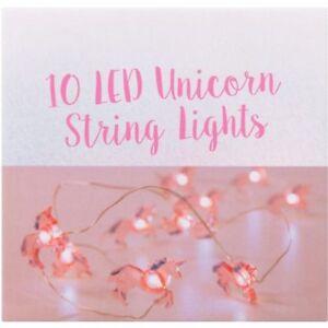 10/20 LED Unicorn Flamingo String Lights Fairy Battery Childrens Light Gift