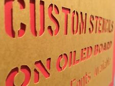 CUSTOM MILITARY LETTER STENCIL ON AUTHENTIC OILED MANILLA BOARD - CHOOSE A FONT