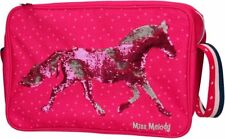 Depesche MISS MELODY HORSE Shoulder MESSENGER BAG Red SEQUIN Silver A4