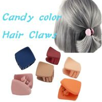 1PC Girl Women Hair Claw Solid Color Hair Crab Retro Square Scrub Hair Clip/