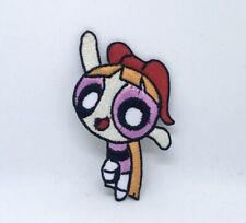 The Powerpuff Girls superhero cartoon Pink Iron/Sew on Embroidered Patch