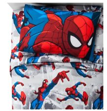 Marvel Spider-Man Twin Bedding Comforter & Sheets Set New In Package 4Pc