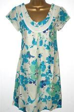 White Stuff Short Sleeve Tunic Floral Dresses for Women