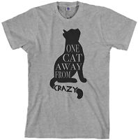 One Cat Away From Crazy Men's T-Shirt Funny Pet Lover Gift