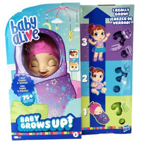 NEW Hasbro 2020 Baby Alive Baby Grows Up Doll English/Spanish w/ Bonus Extras