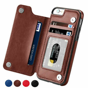 Case for iPhone 6s 7 8 Plus Phone Luxury Leather Flip Card Wallet