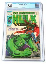 CGC 7.5 INCREDIBLE HULK #112 * 1968 * Marvel Comics