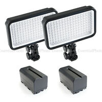On-Camera Portable Studio LED Panel Twin Kit Battery Powered Portable Dimmable