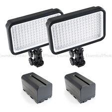 2x LED170 Videocámara DV Cámara Portátil Película Video Lighting + baterías