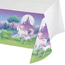 Unicorn Tablecover Birthday Party Fantasy Purple Pink 137 X 259cms PP UK