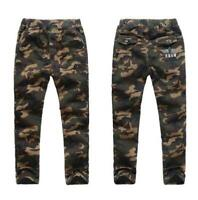 Kids Boys Travel Camouflage Cotton Trousers Army Sportwear School Jogging Pants