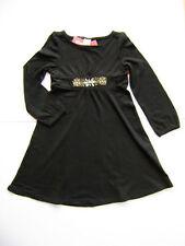 GYMBOREE Holiday Classics Black Rayon Cotton Gem Dress Girls 5 NEW