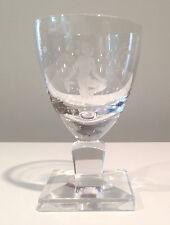 8 Orrefors White Wine Glasses Engraved Nude w Grapes by Nils Landberg w Brochure