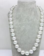 """20""""10-14mm natural south sea genuine white round pearl necklace 28DAAA"""