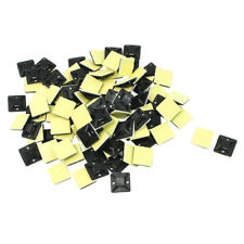 100 Pcs Self Adhesive Cable Tie Mount Base Holder 20 x 20 x 6mm WS B3M5