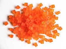 Miyuki Square Transparent Frost  Orange Seed Beads (cubes) 3.5-3.7mm(25g)