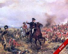 WELLINGTON AT WATERLOO PAINTING MILITARY HISTORY WAR ART REAL CANVAS PRINT