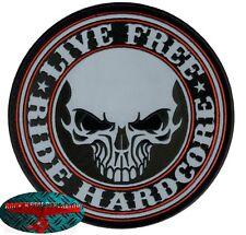 RIDE HARDCORE BIKER Patch reflektierend groß Aufnäher Aufbügler Backpatch Harley