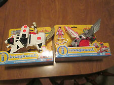 Imaginext POWER RANGERS WHITE & TIGERZORD + PINK & PTERODACTYL ZORD FISHER PRICE