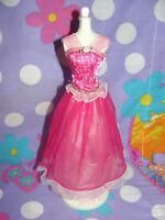 Mattel 2001 Barbie Pretty PRINCESS PINK DRESS Gown