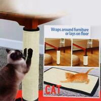 1*Pet Cat Sisal Scratch Board Mat Scratching Post Toy Furniture Protector N0D3
