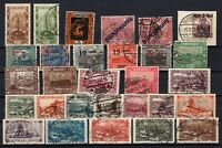 P135698/ FRENCH SAAR – YEARS 1921 - 1934 USED SEMI MODERN LOT
