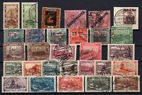 P135698/ FRENCH SAAR – YEARS 1921 - 1934 USED SEMI MODERN LOT