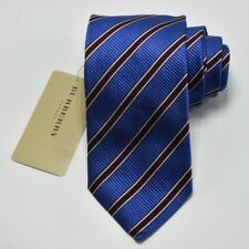 """NEW Burberry BLUE Stripes Mans 100% Silk Tie Authentic Italy Made 3.5"""" 0350166"""
