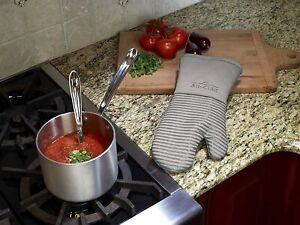 All-Clad Textiles Silicone Oven Mitt  Heat Resistant, 1 Pack,  Titanium  NEW