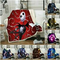 3D The Nightmare Before Christmas Blanket Sofa office Bedding Comforter Quilt