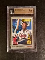 2019 Topps Heritage Ronald Acuna Jr. ROOKIE RC SP #500 BGS 9.5 GEM MINT psa 10