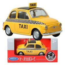 WELLY 1:43 Fiat Nuova500 TAXI / Yellow / Children / Toy / DIE-CAST